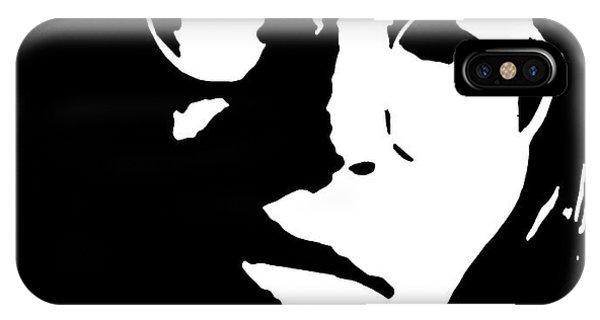 Famous People iPhone Case - John Denver Black And White Pop Art by David G Paul