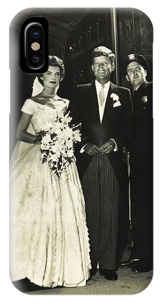 John F Kennedy And Jacqueline On Wedding Day IPhone Case