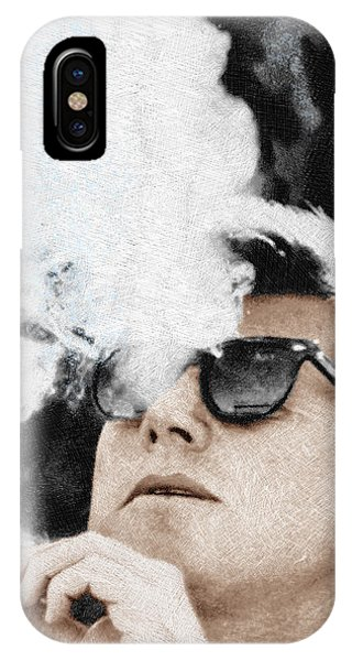 Rights iPhone Case - John F Kennedy Cigar And Sunglasses by Tony Rubino