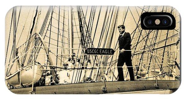 John F Kennedy On Coast Guard Eagle IPhone Case