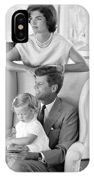 John F. Kennedy With Jacqueline And Caroline 1959 IPhone Case