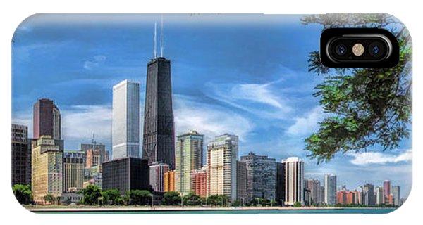 John Hancock Chicago Skyline Panorama IPhone Case
