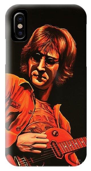Popstar iPhone Case - John Lennon Painting by Paul Meijering