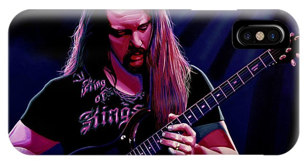 Electric Guitar iPhone Case - John Petrucci Painting by Paul Meijering