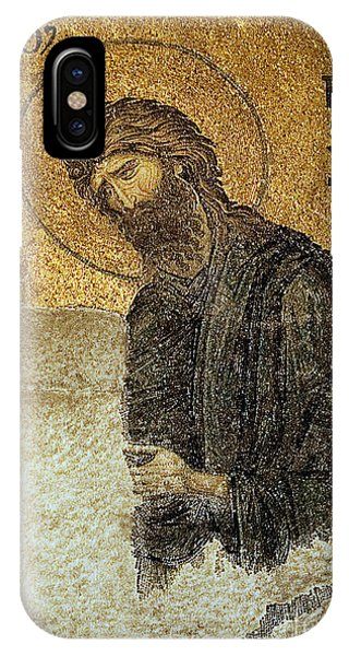 John The Baptist-detail Of Deesis Mosaic  Hagia Sophia-judgement Day IPhone Case