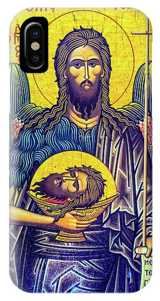New Testament iPhone Case - John The Baptist, Saint George's Greek by William Perry