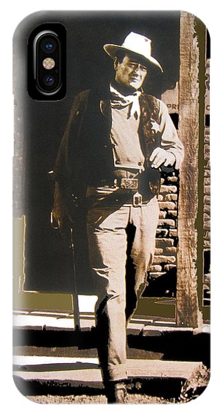John Wayne Exciting The Sheriff's Office Rio Bravo Set Old Tucson Arizona 1959-2013 IPhone Case