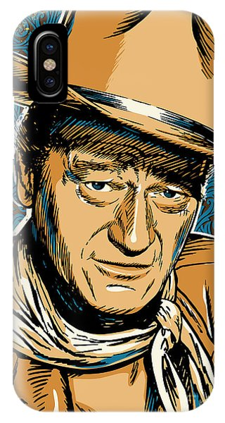 University iPhone Case - John Wayne Pop Art by Jim Zahniser