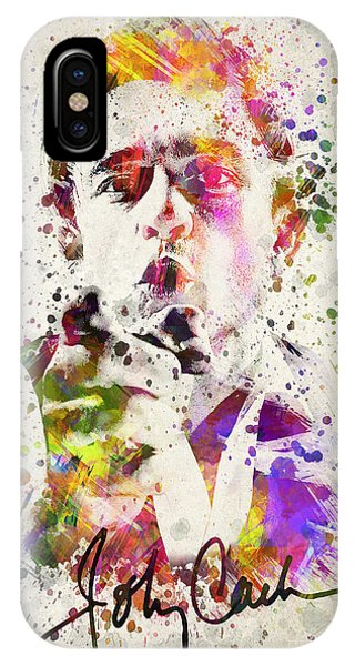 Johnny Cash iPhone Case - Johnny Cash  by Aged Pixel