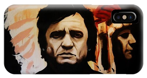 Johnny Cash And Indian IPhone Case