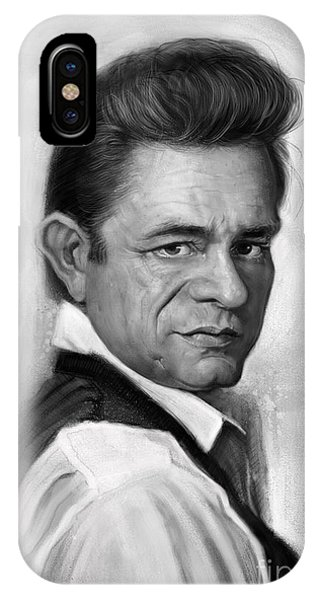 Johnny Cash iPhone Case - Johnny Cash by Andre Koekemoer