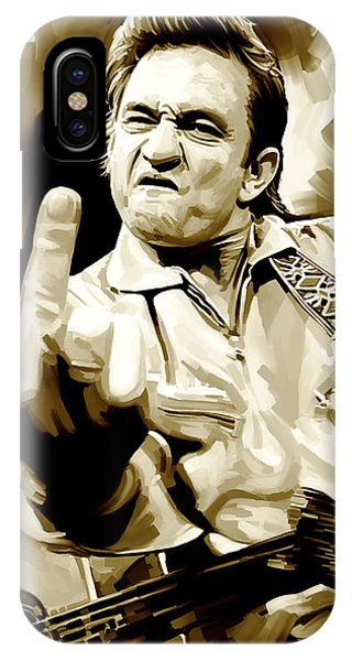 Johnny Cash iPhone Case - Johnny Cash Artwork 2 by Sheraz A