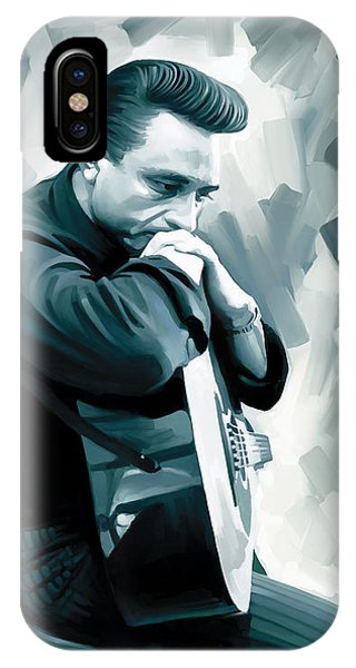 Johnny Cash iPhone Case - Johnny Cash Artwork 3 by Sheraz A