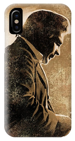 Johnny Cash iPhone Case - Johnny Cash Artwork by Sheraz A