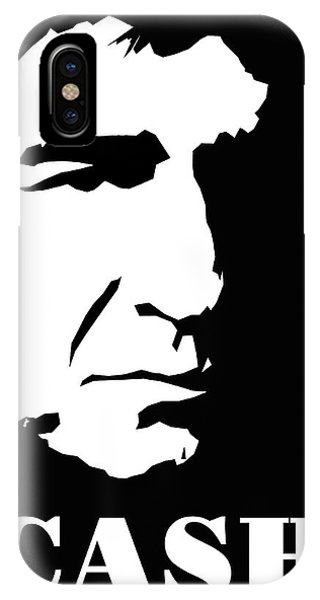 Johnny Cash iPhone Case - Johnny Cash Black And White Pop Art by David G Paul