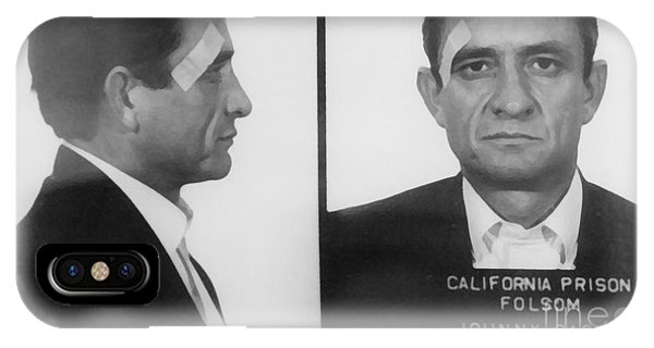 Johnny Cash iPhone Case - Johnny Cash Folsom Prison Large Canvas Art, Canvas Print, Large Art, Large Wall Decor, Home Decor by David Millenheft