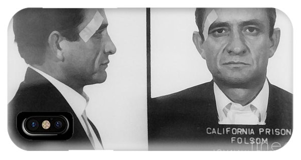 Print iPhone Case - Johnny Cash Folsom Prison Canvas Print,photographic Print,art Print,framed Print,iphone by David Millenheft