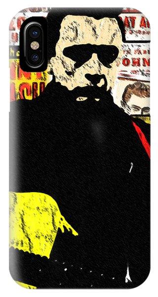 Johnny Cash iPhone Case - Johnny Cash by GR Cotler
