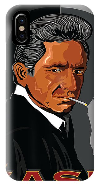 Johnny Cash iPhone Case - Johnny Cash American Country Music Icon by Larry Butterworth