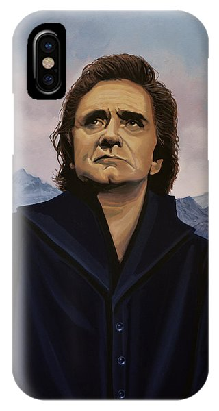 Walk iPhone Case - Johnny Cash Painting by Paul Meijering