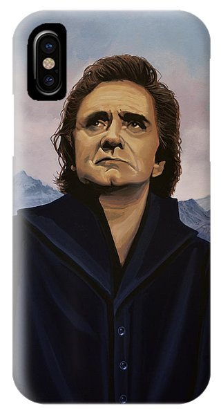 Rock And Roll iPhone Case - Johnny Cash Painting by Paul Meijering