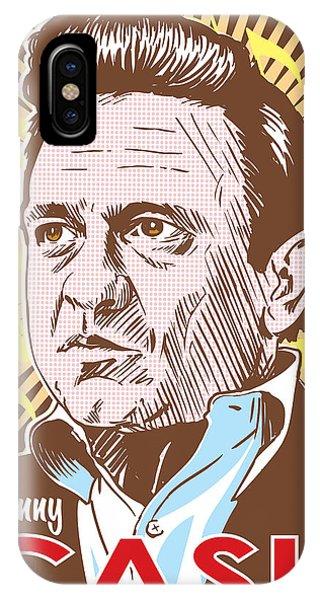 Johnny Cash iPhone Case - Johnny Cash Pop Art by Jim Zahniser
