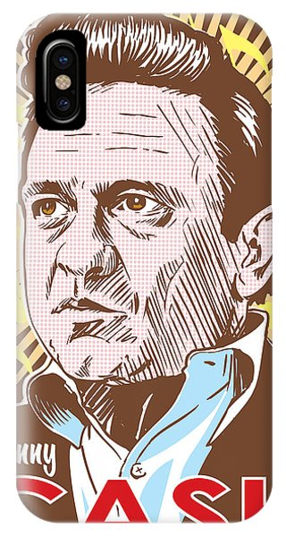 Johnny Cash iPhone Case - Johnny Cash Pop Art by Jim Zahniser