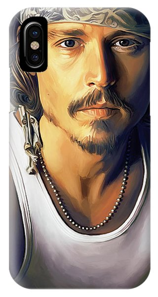 Celebrity iPhone Case - Johnny Depp Artwork by Sheraz A