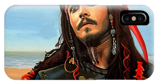 Glamour iPhone Case - Johnny Depp As Jack Sparrow by Paul Meijering