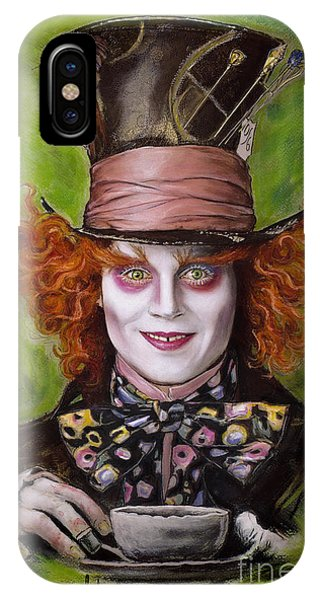 Alice In Wonderland iPhone Case - Johnny Depp As Mad Hatter by Melanie D