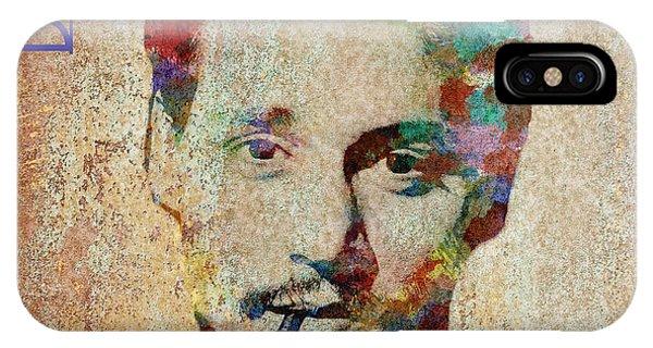 Johnny Depp Watercolor Splashes IPhone Case