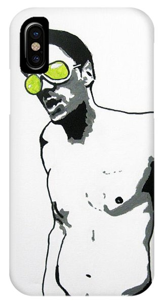 Pen And Ink Drawings For Sale iPhone Case - Johnny Knoxville by Venus