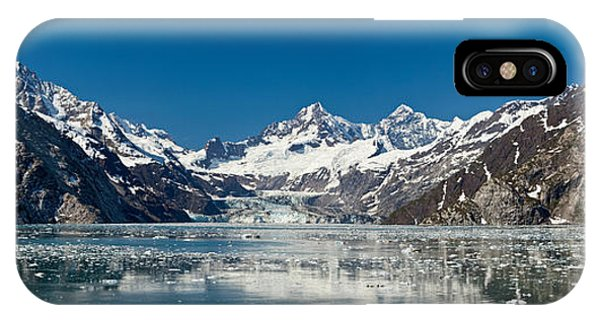Glacier Bay iPhone Case - Johns Hopkins Glacier In Glacier Bay by Panoramic Images