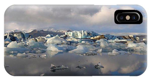 Jokulsarlon Glacier Lagoon Panorama IPhone Case