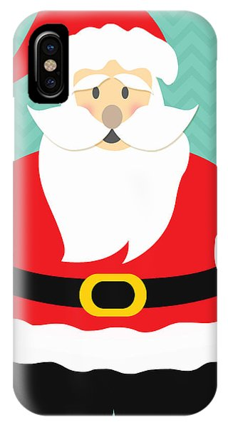 Santa Claus iPhone Case - Jolly Santa Claus by Linda Woods