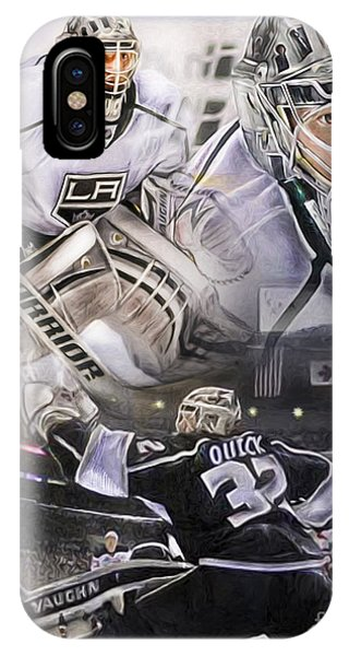 Quick iPhone Case - Jonathan Quick Collage by Mike Oulton
