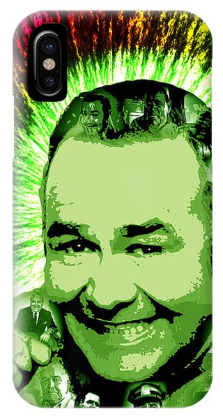 Robin Williams Comedian iPhone Case - Jonathan Winters by Michael Lee