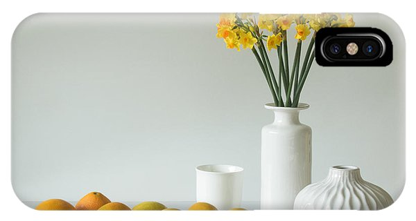 Bouquet iPhone Case - Jonquils And Citrus by Jacqueline Hammer