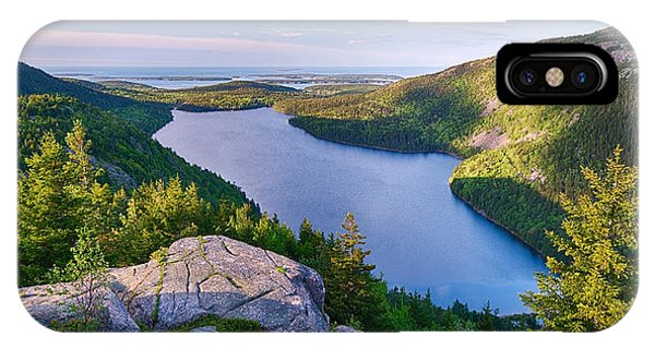 Jordan Pond From The North Bubble IPhone Case