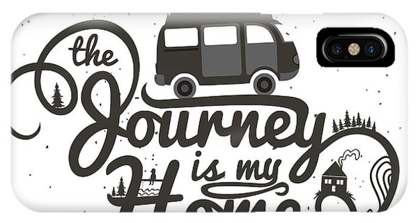Road Signs iPhone Case - Journey Is My Home. Vintage Vector by Julymilks
