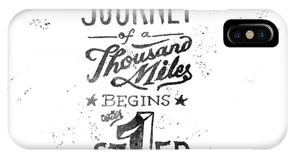 Motivational iPhone Case - Journey Of Thousand Miles by Ridza MH