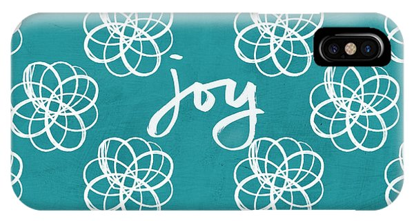 Diamond iPhone Case - Joy Boho Floral Print by Linda Woods