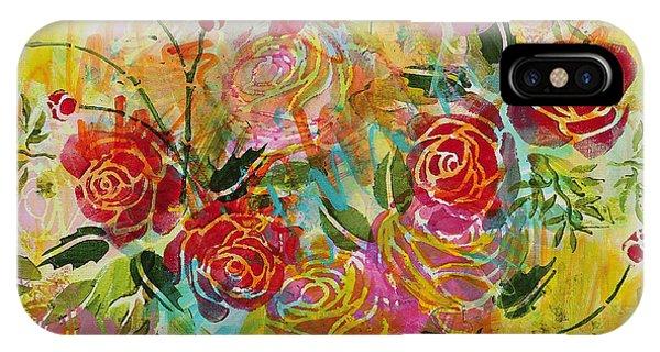 iPhone Case - Joyful Blooms by Julie Acquaviva Hayes