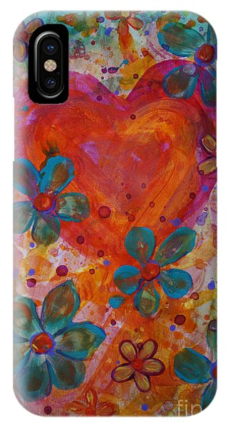 IPhone Case featuring the painting Joyful Noise by Jacqueline Athmann