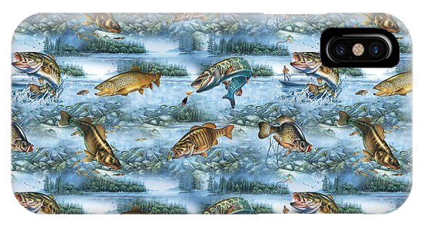 Jq Lake Fish Bedding Pillow IPhone Case