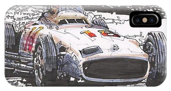 Juan Fangio Mercedes Benz German Grand Prix Phone Case by Paul Guyer
