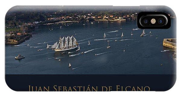 Juan Sebastian Elcano Departing The Port Of Ferrol IPhone Case