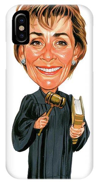 Laugh iPhone Case - Judith Sheindlin As Judge Judy by Art