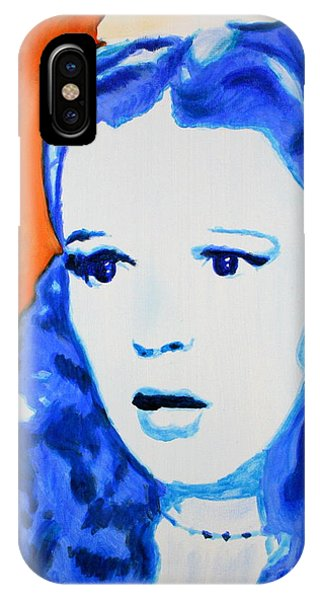 IPhone Case featuring the painting Judy Garland Dorothy Wizard Of Oz by Bob Baker