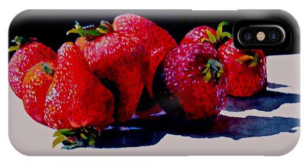 Juicy Strawberries IPhone Case